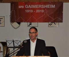 Michael Schrodi gratuliert zum Jubiläum und berichtet aus Berlin